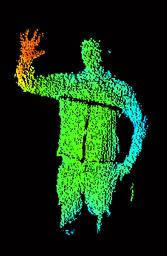 Grafik Abstandsbild einer Person