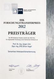 ISM Auszeichnung Forschungstransferpreis