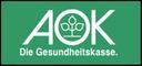 Ein grünes Logo der AOK.