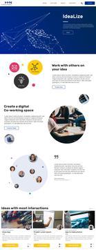Mockup Startseite Projekt Idealize