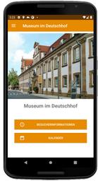 Screenshot der Home-Seite der MuseumsApp