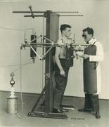 old xray machine in use