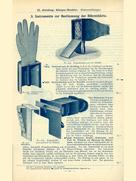 The Dr. Schilling test hand, consisting of the skeleton of a hand cast in wax with a leather cover to imitate a human hand, RGS catalog, 1907