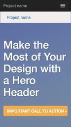 Website design on iPhone 5