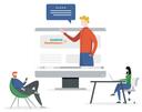 Illustration TrendLab Digital Experience - Digitale Events bei Siemens Healthineers