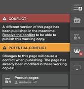 Editing conflicts in Scrivito