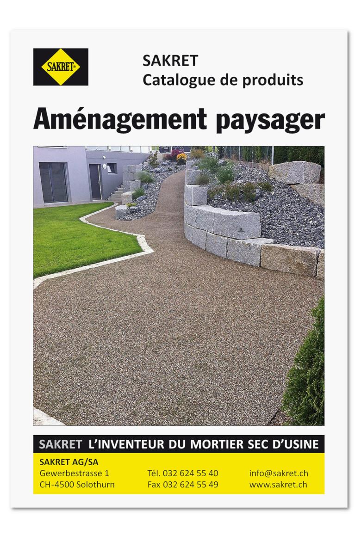 SAKRET Suisse Catalogue de produits Aménagement paysager