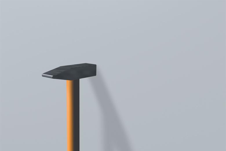 Hammer zum Ausführen der Klopfprobe