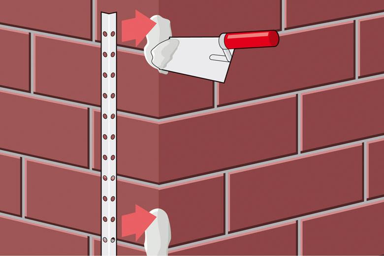 Anleitung Fassade sanieren - Schritt 3 - Putzprofil setzen