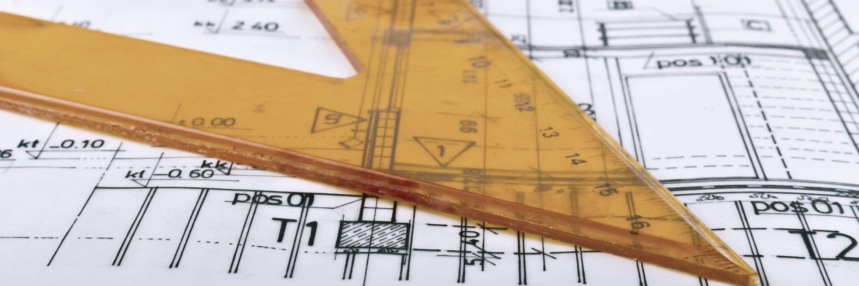 Konstruktionsdetails Zeichendreieck