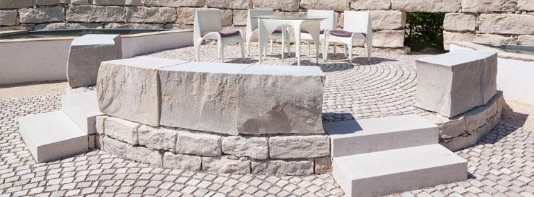 Natursteinmauer selber bauen Trockenmauerwerk