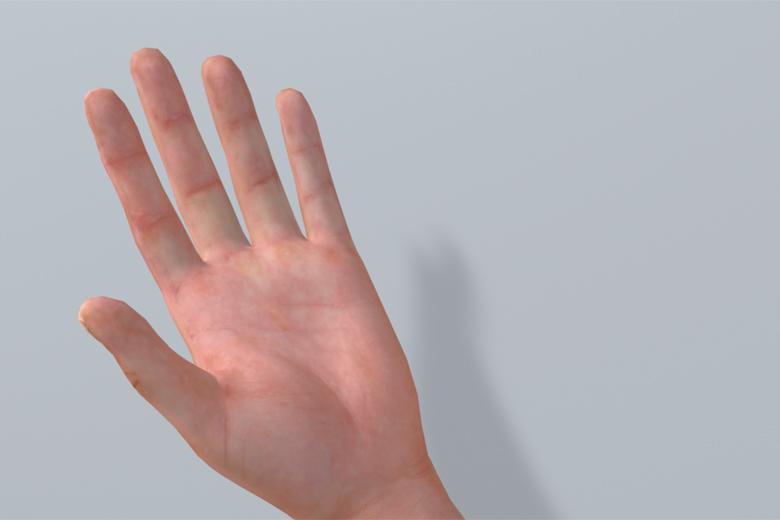 Mit der flachen Hand die Wand prüfen