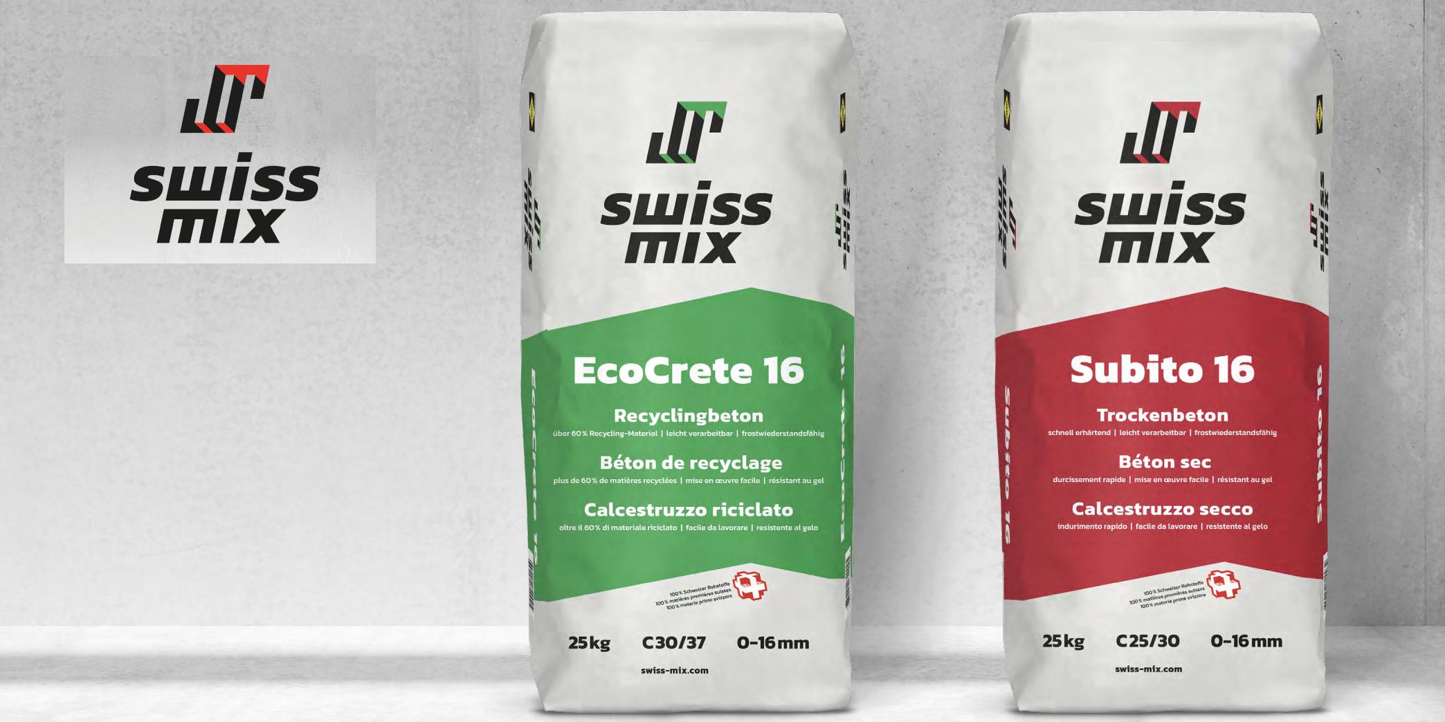 SAKRET Schweiz Swissmix Produktelinie