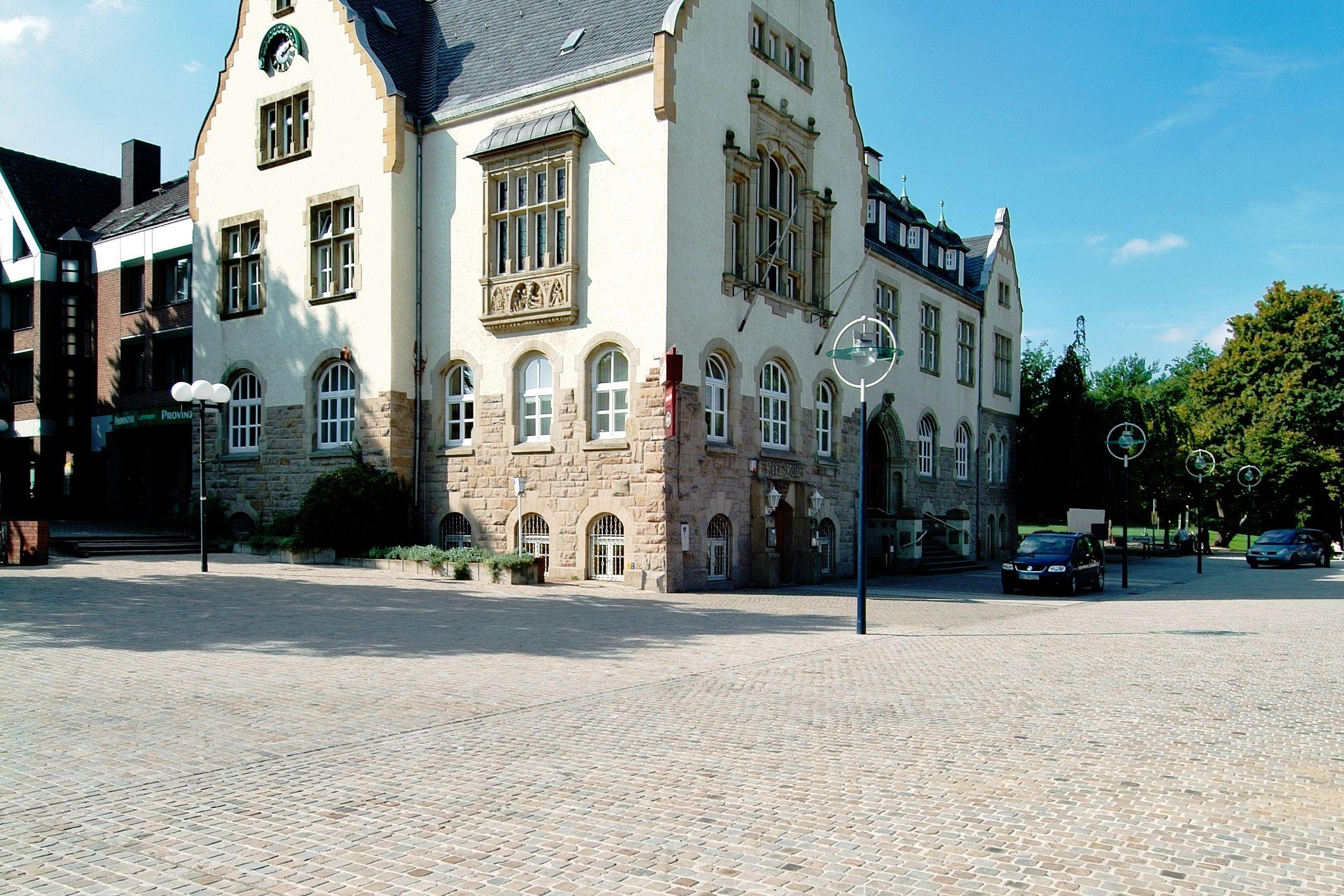 SAKRET Referenz Marktplatz Dortmund Pflastersteine Totale