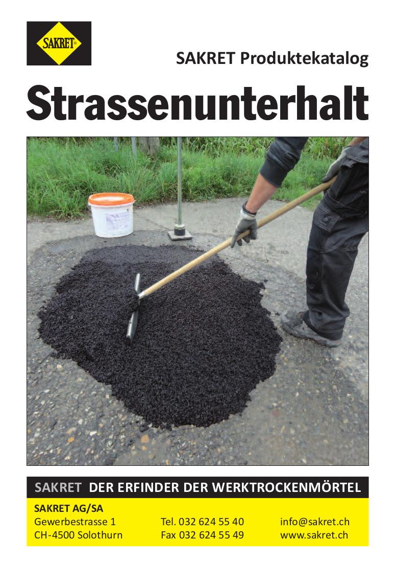 SAKRET Schweiz Lieferprogramm Strassenunterhalt