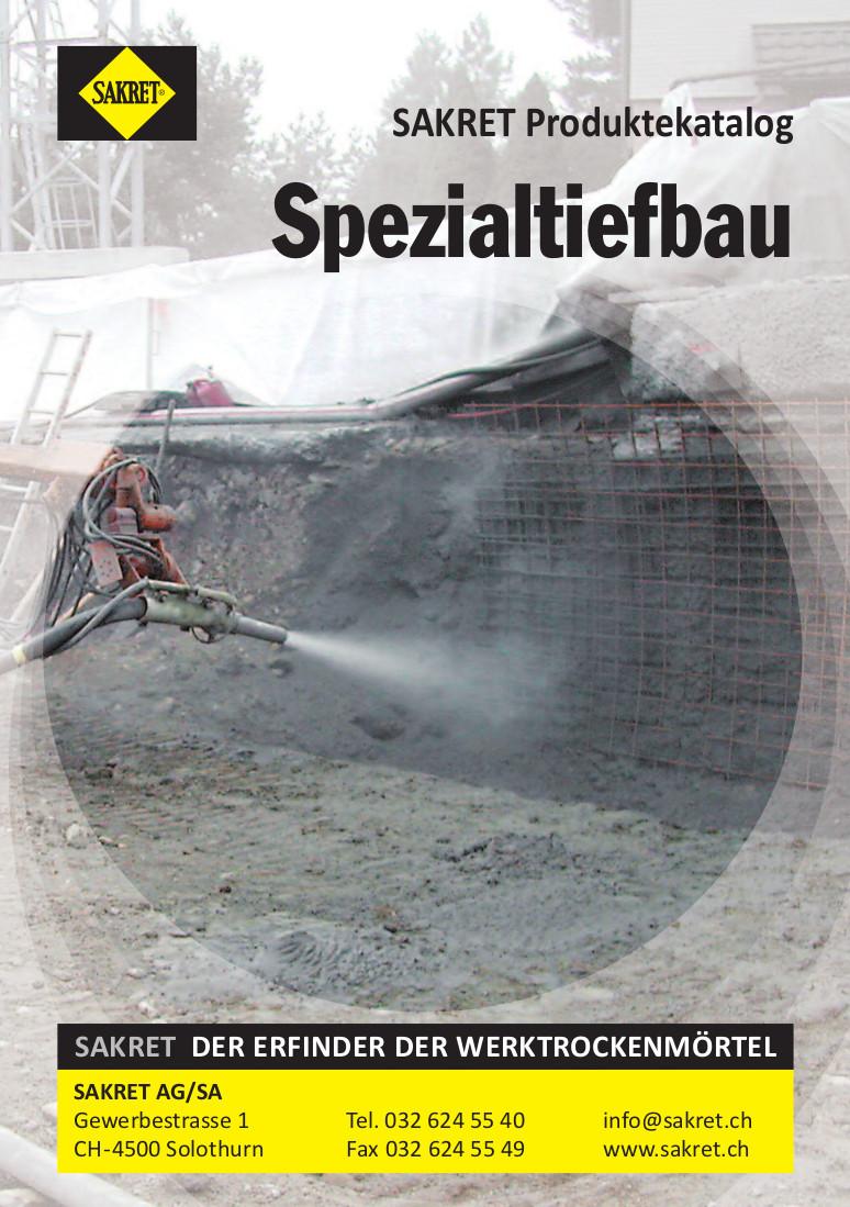 SAKRET Schweiz Lieferprogramm Tiefbau