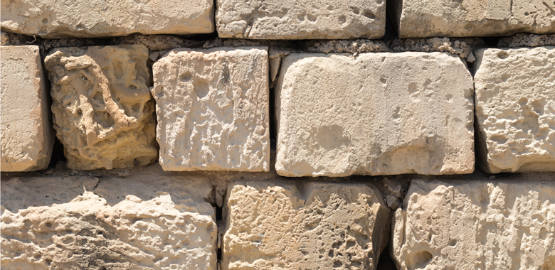 Kalksteinfür die Natursteinmauer