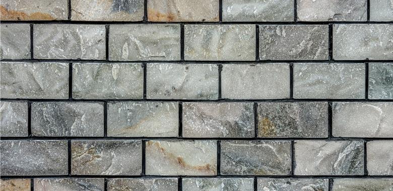 Marmor für die Natursteinmauer