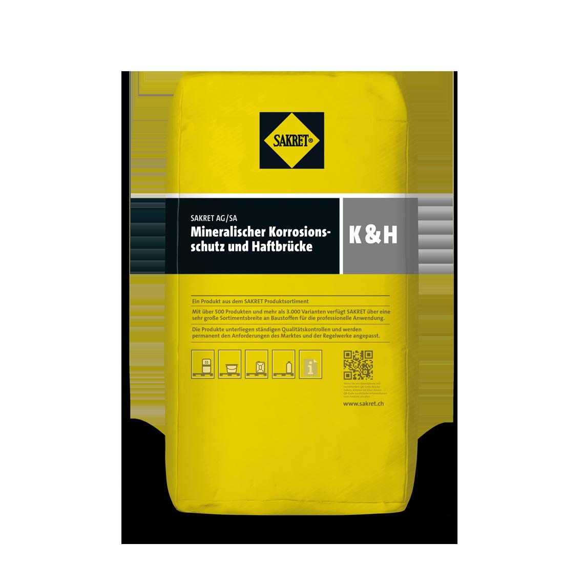 SAKRET ProduktbildMineralischer Korrosionsschutz und Haftbrücke K&H