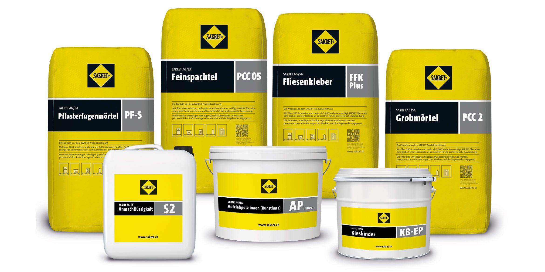 SAKRET Schweiz Startseite | Produktsortiment Fachunternehmer