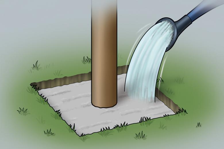Punktfundament erstellen - Schritt 3 - Bewässern