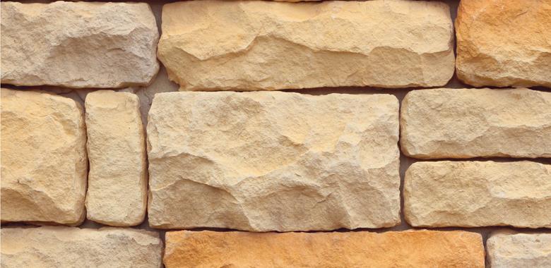 Sandsteinfür die Natursteinmauer