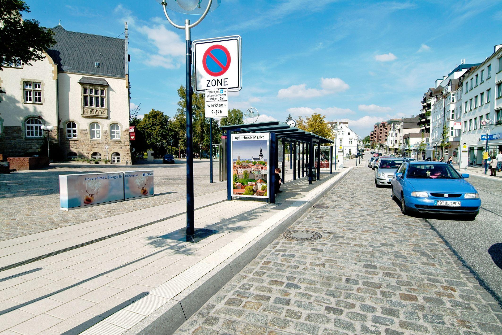 SAKRET Referenz Marktplatz Dortmund Pflastersteine Straße