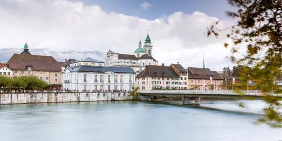 SAKRET Schweiz am Standort Solothurn | Innenstadt Solothurns hinter Fluss