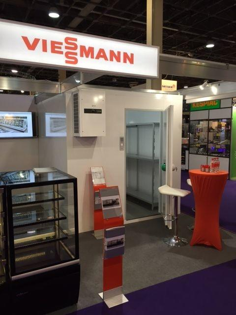 Viessman refrigeration systems stand at Sirha in Budapest