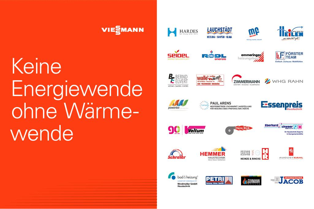 """Das Bild zeigt den Slogan """"Keine Energiewende ohne Wärmewende"""" und die Logos beteiligter Handwerker."""