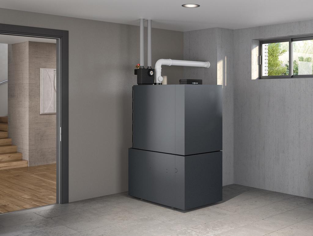 Das Bild zeigt das neue Viessmann Brennwertgerät Vitoladens 300-C