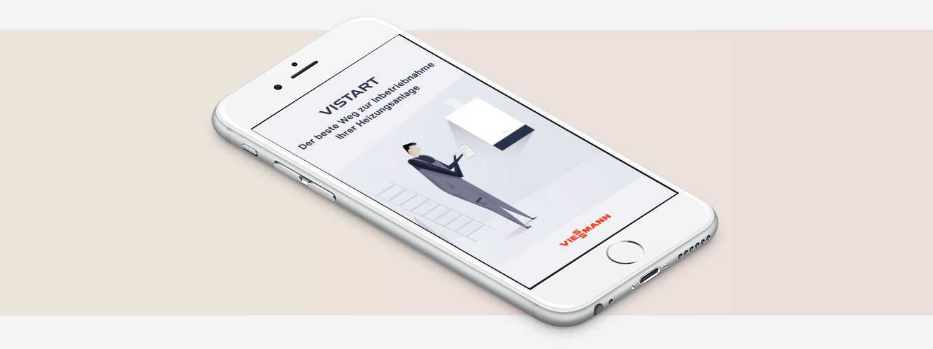 Picture shows the new app for Viessmann trade partners - ViStart.