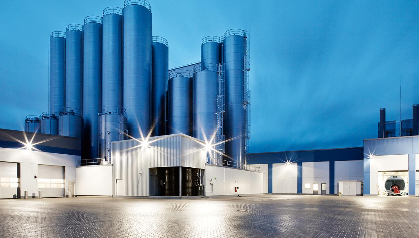 The picture shows the milk drying plant Neumünster from outside.