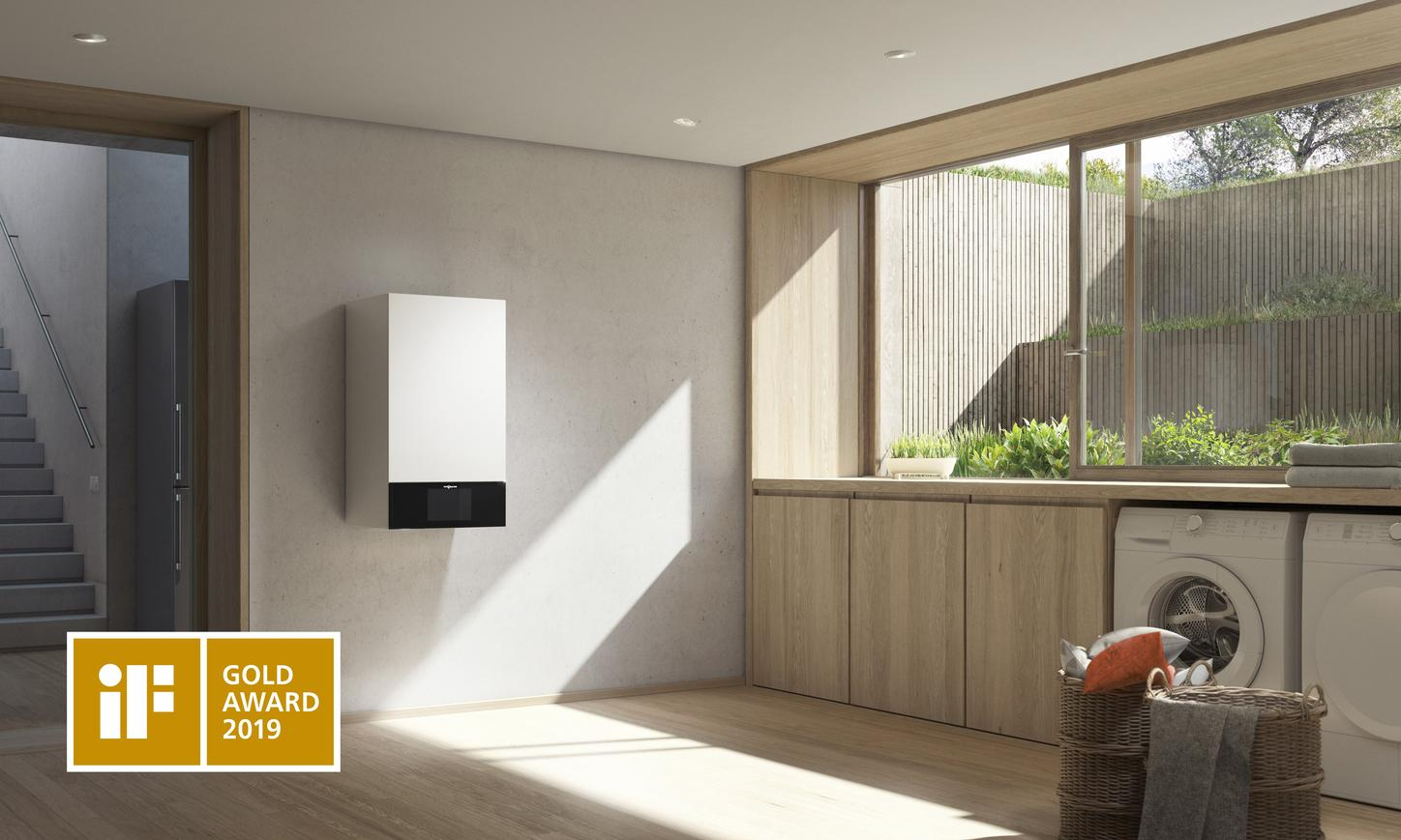 The picture shows the Vitodens 300-W from Viessmann.