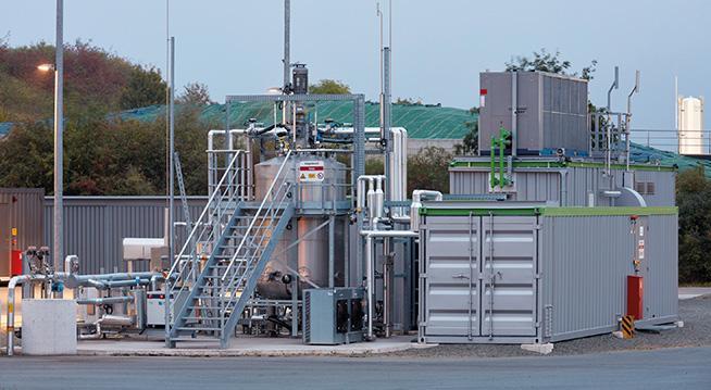 Das Bild zeigt die weltweit erste Power-to-Gas-Anlage