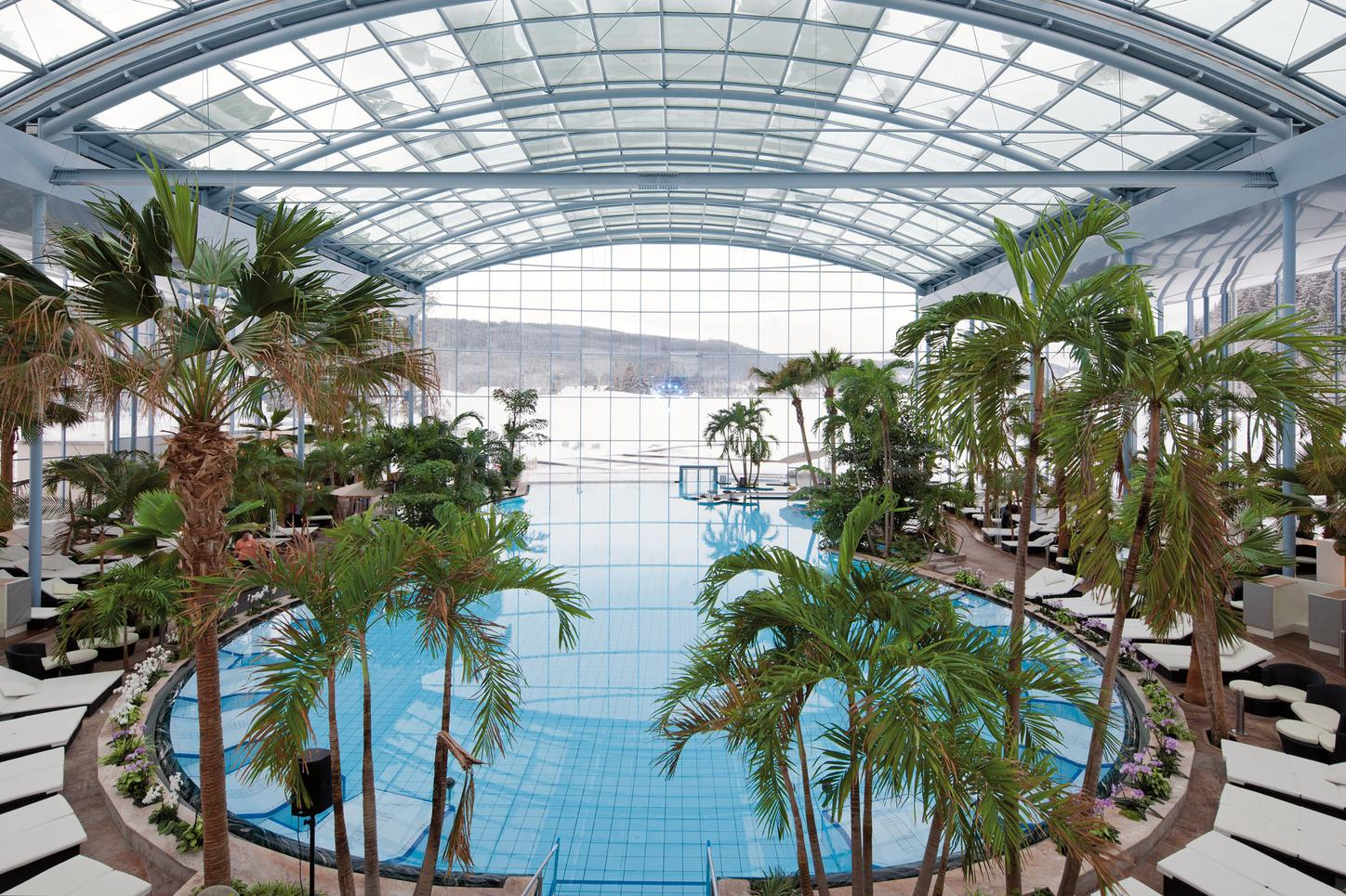 The image shows the bathing paradise in the Black Forest.