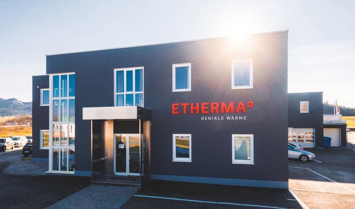 Das Bild zeigt das Geschäftsgebäude von Etherma Elektrowärme.