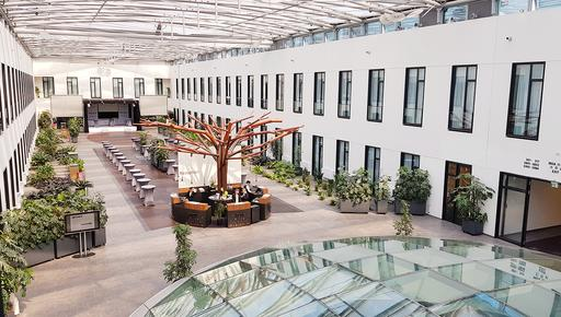 The picture shows the newly designed reception of the Mercure Hotel MOA in Berlin