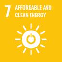Das Bild zeigt das SDG-Ziel 7 Bezahlbare und saubere Energie.
