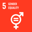 Das Bild zeigt das SDG-Ziel 5 Geschlechtergleichheit.