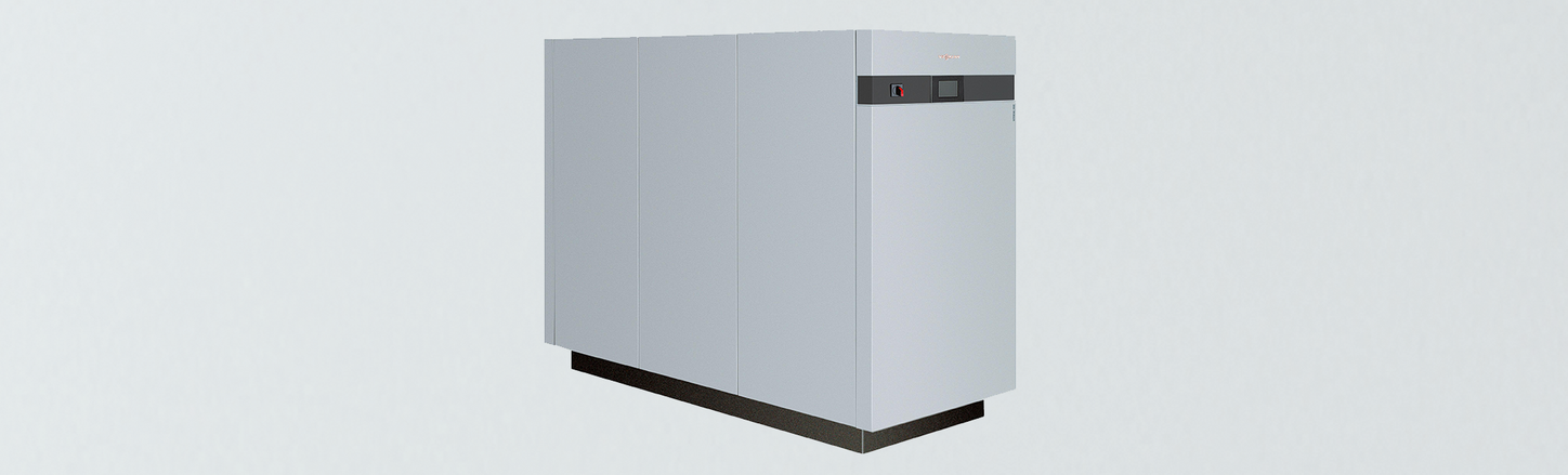 Picture shows the Viessmann Vitocal 350-G Pro.