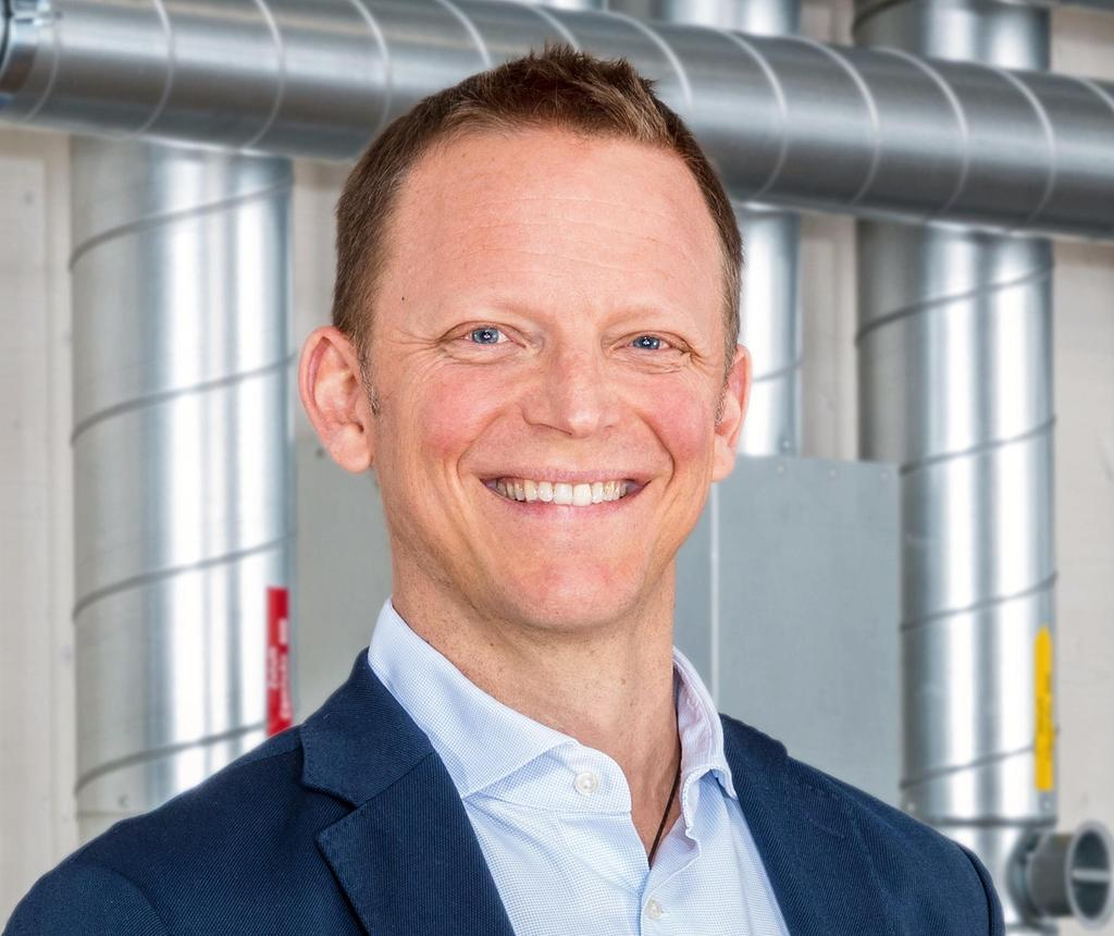 """The image shows Dominik Berchtold, head of the newly founded """"ViAir"""" activities of the Viessmann Group."""