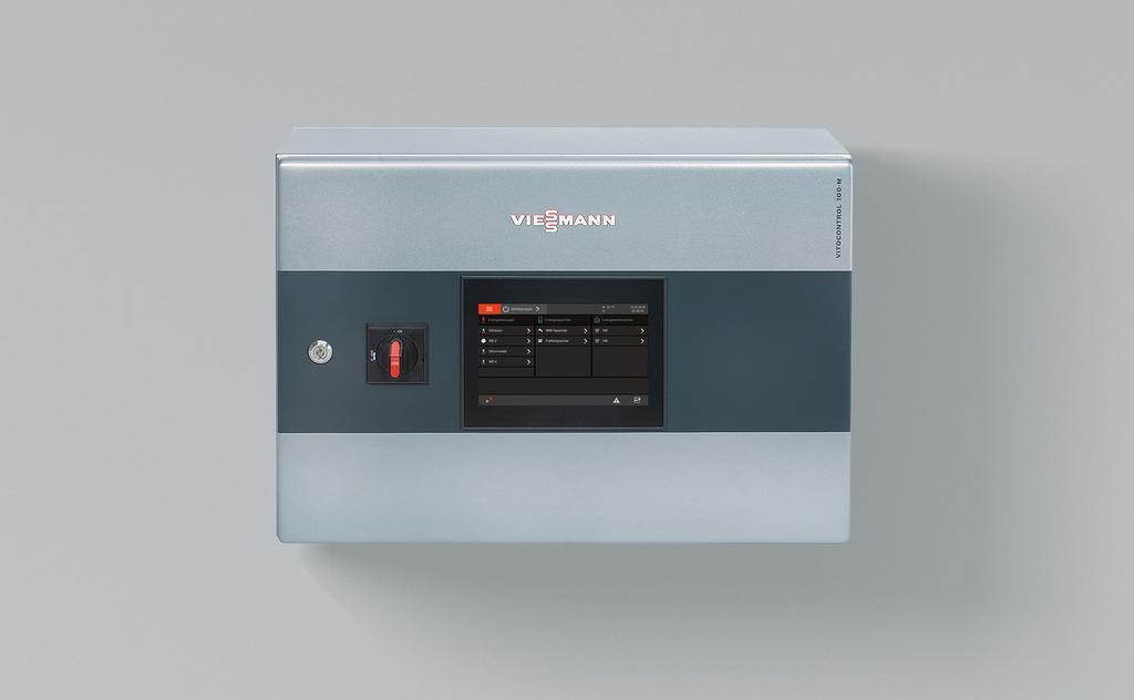 Das Bild zeigt die modulare Viessmann Systemsteuerung Vitocontrol 100-M.