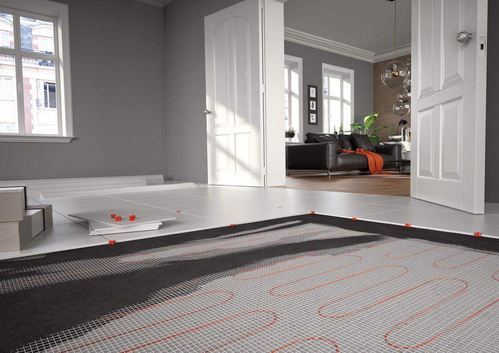 Das Bild zeigt eine Fußbodenheizung von Viessmann.