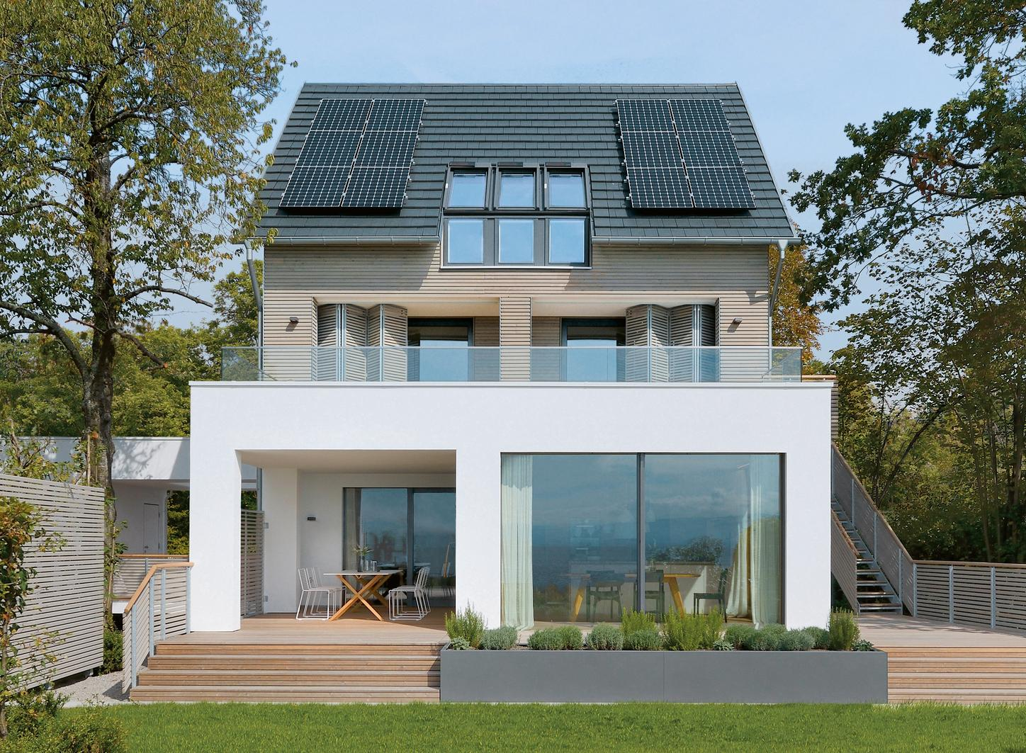 The house shows a house from outside with an electrical system.