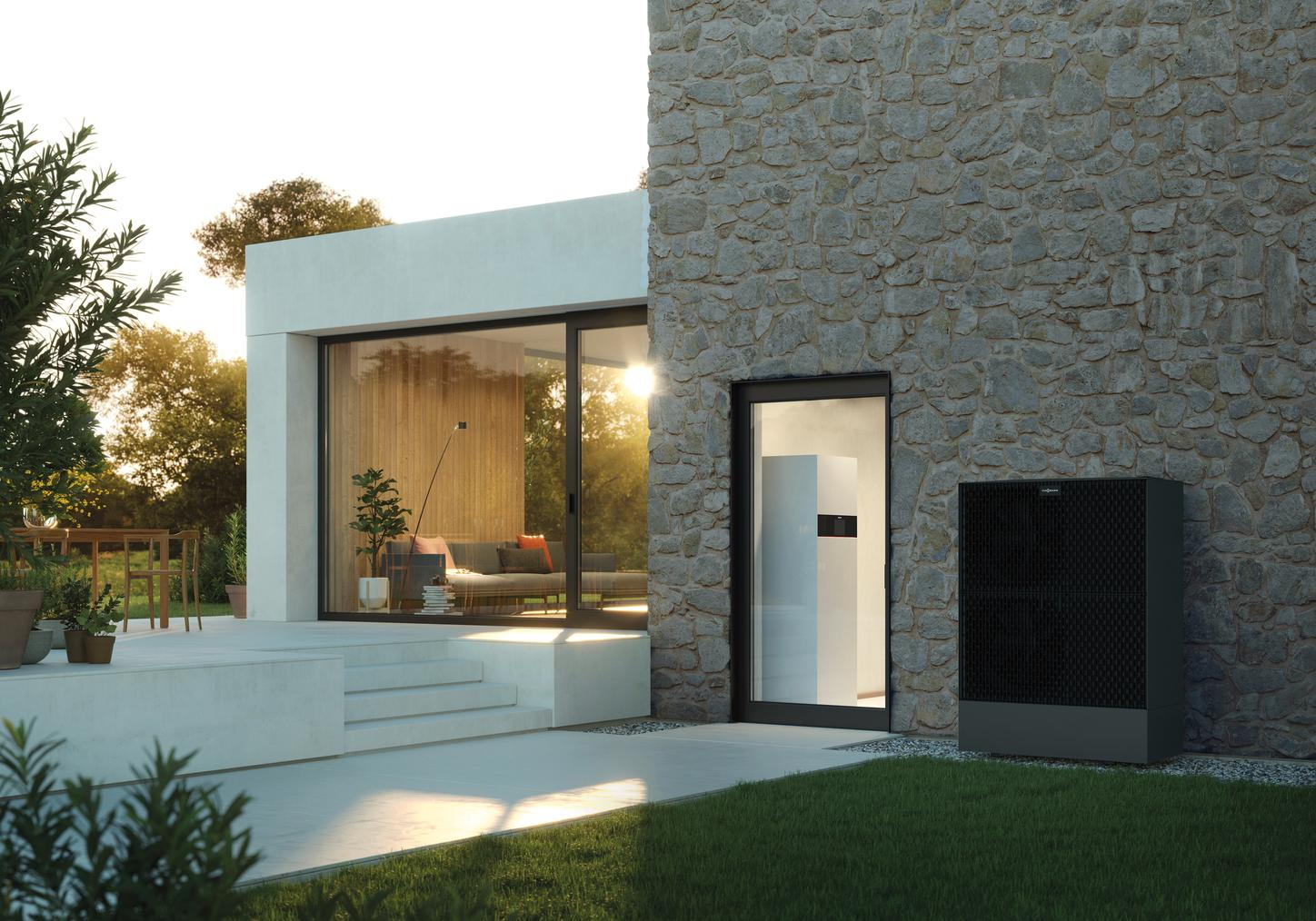 The image shows the Vitocal 252-A heat pump from Viessmann.
