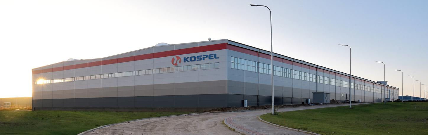 The picture shows the kospel production plant.