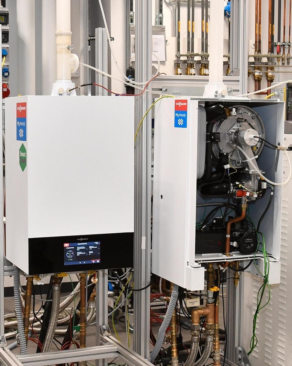 Das Viessmann Technikum in Allendorf erprobt den Einsatz von Erdgas/Wasserstoff-Gemisch Prototypen.
