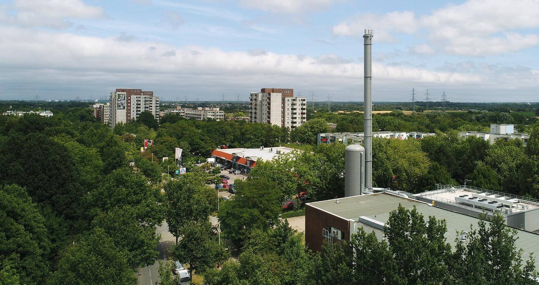 Das Bild zeigt das Heizkraftwerk Hamburg-Mümmelmannsberg.