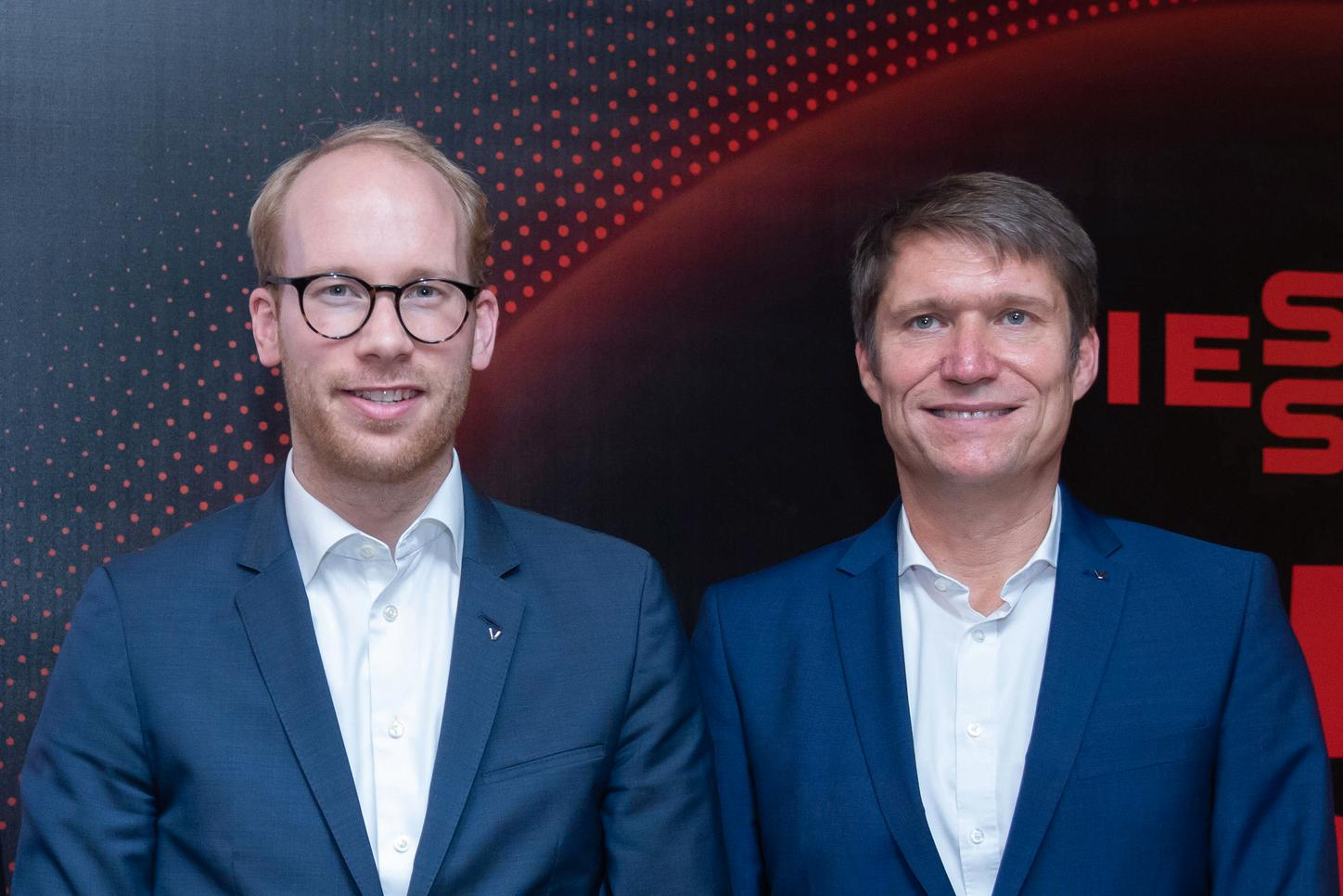 The picture shows Co-CEO Max Viessmann and Chief Sales Officer Thomas Heim.